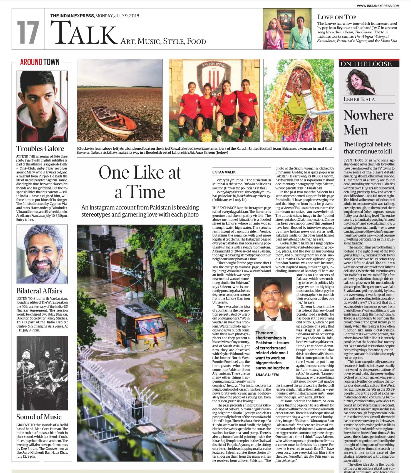 Indian Express Print